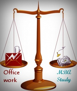 Work-Study balancing guidelines for online MBA students