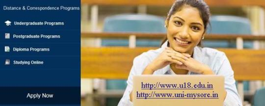 online degree courses from university of mysore